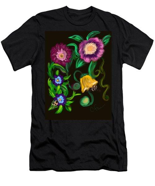 Fairy Tale Flowers Men's T-Shirt (Athletic Fit)