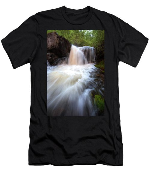 Men's T-Shirt (Slim Fit) featuring the photograph Fall And Splash by David Andersen