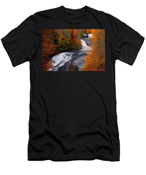 Fall At Triple Falls Men's T-Shirt (Athletic Fit)