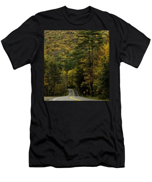 Fall Colors On Mohawk Trail Near Charlemont Men's T-Shirt (Athletic Fit)