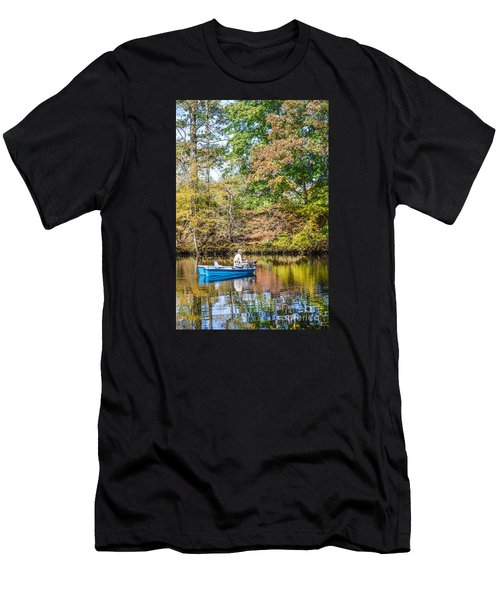 Men's T-Shirt (Slim Fit) featuring the photograph Fishing Reflection by Debbie Green