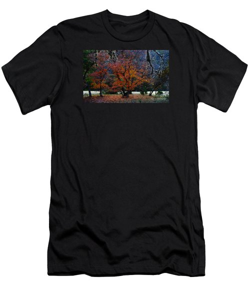 Fall Foliage At Lost Maples State Park  Men's T-Shirt (Athletic Fit)