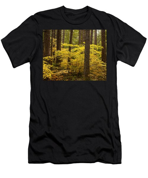 Men's T-Shirt (Slim Fit) featuring the photograph Fall Foliage by Belinda Greb
