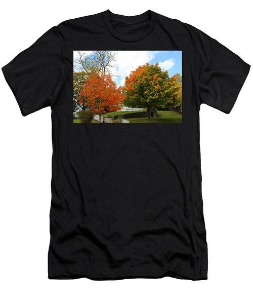 Fall Foliage Colors 09 Men's T-Shirt (Athletic Fit)