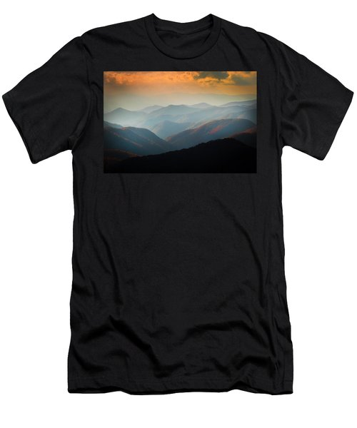 Fall Foliage Ridgelines Great Smoky Mountains Painted  Men's T-Shirt (Athletic Fit)