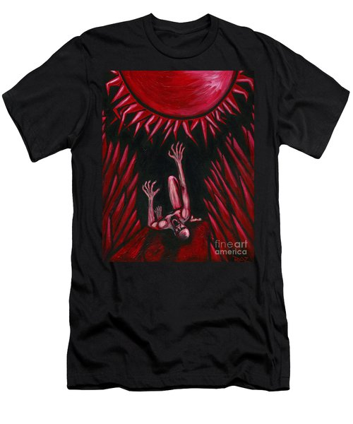 Fall Of Icarus Men's T-Shirt (Slim Fit) by Roz Abellera Art