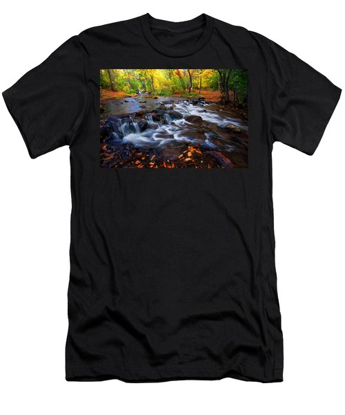 Men's T-Shirt (Slim Fit) featuring the photograph Fall On Fountain Creek by Ronda Kimbrow
