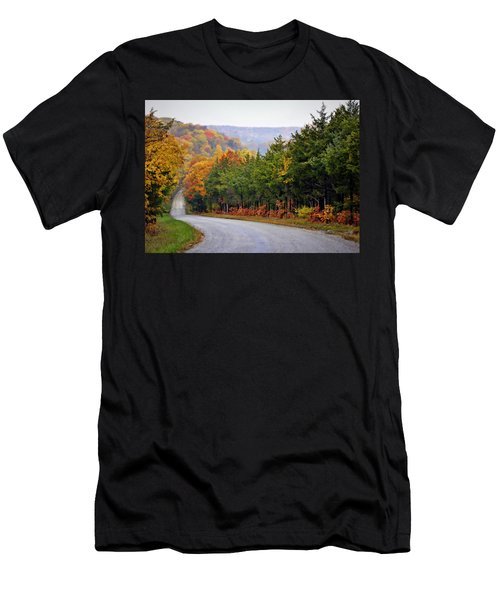 Fall On Fox Hollow Road Men's T-Shirt (Athletic Fit)