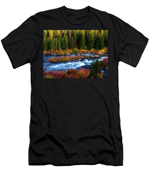 Men's T-Shirt (Slim Fit) featuring the photograph Fall On The Deschutes River by Kevin Desrosiers