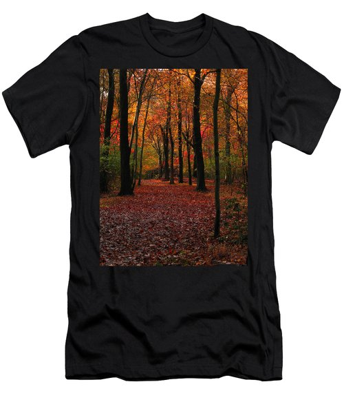 Men's T-Shirt (Slim Fit) featuring the photograph Fall Path by Raymond Salani III