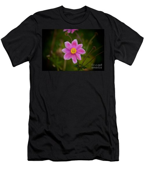 Fall Pink Daisy Men's T-Shirt (Athletic Fit)