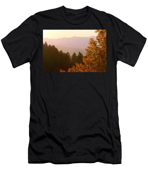 Fall Smoky Mountains Men's T-Shirt (Slim Fit) by Melinda Fawver