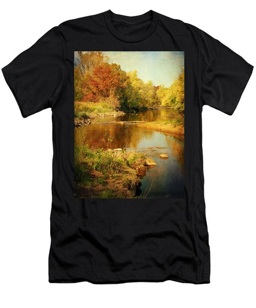 Fall Time At Rum River Men's T-Shirt (Athletic Fit)