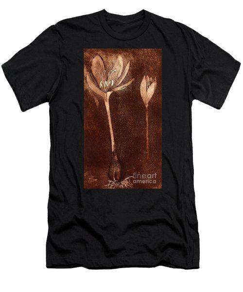 Fall Time - Autumn Crocus Meadow Safran Men's T-Shirt (Athletic Fit)