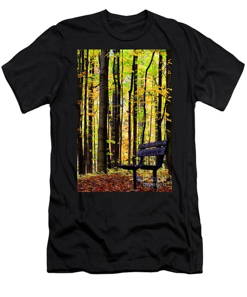 Fall Woods In Michigan Men's T-Shirt (Athletic Fit)