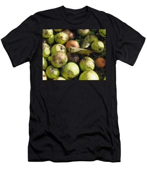 Fallen Aplles Men's T-Shirt (Slim Fit) by Ron Harpham