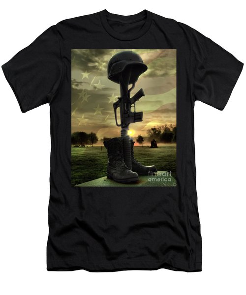 Fallen Soldiers Memorial Men's T-Shirt (Athletic Fit)