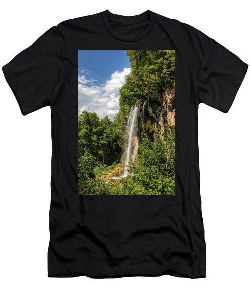 Falling Springs Falls Men's T-Shirt (Athletic Fit)