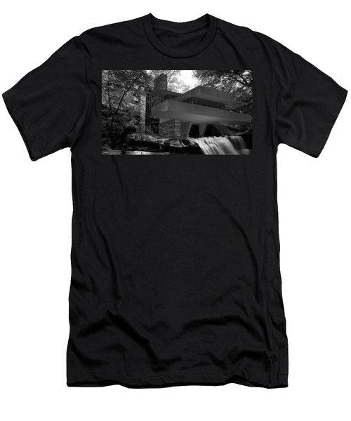 Falling Waters Men's T-Shirt (Slim Fit) by Louis Ferreira