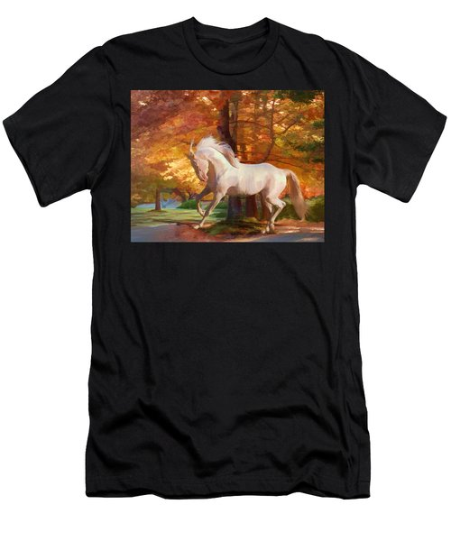 Men's T-Shirt (Athletic Fit) featuring the photograph Fall's Fancy by Melinda Hughes-Berland