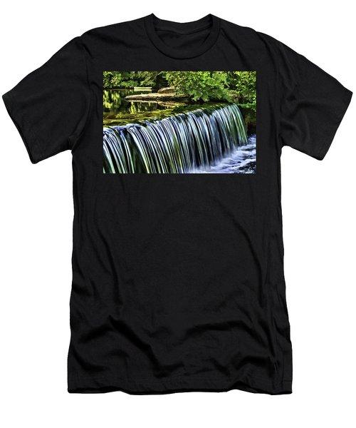 Men's T-Shirt (Slim Fit) featuring the painting Falls by Muhie Kanawati