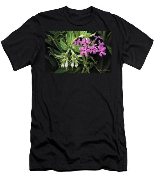 False Gromwell With Prairie Phlox Men's T-Shirt (Athletic Fit)