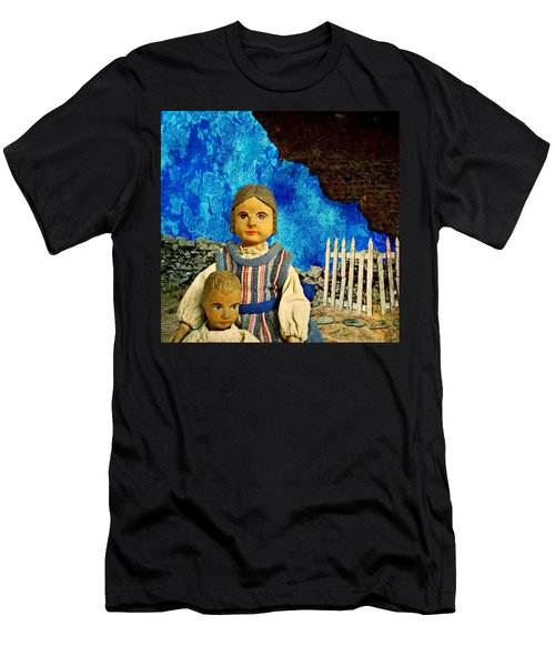 Men's T-Shirt (Slim Fit) featuring the mixed media Family by Ally  White