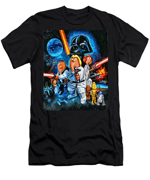 Family Guy Star Wars Men's T-Shirt (Athletic Fit)