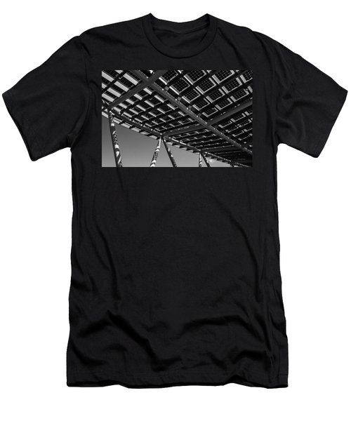 Men's T-Shirt (Slim Fit) featuring the photograph Farming The Sun - Architectural Abstract by Steven Milner