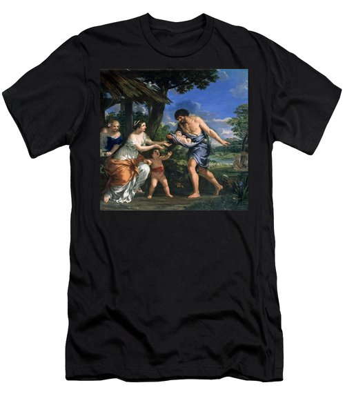 Faustulus Entrusting Romulus And Remus To His Wife Acca Larentia, C.1643 Oil On Canvas Men's T-Shirt (Athletic Fit)