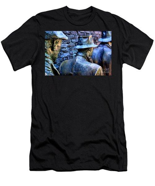 Men's T-Shirt (Slim Fit) featuring the photograph Franklin Roosevelt   Memorial Washington Dc by John S