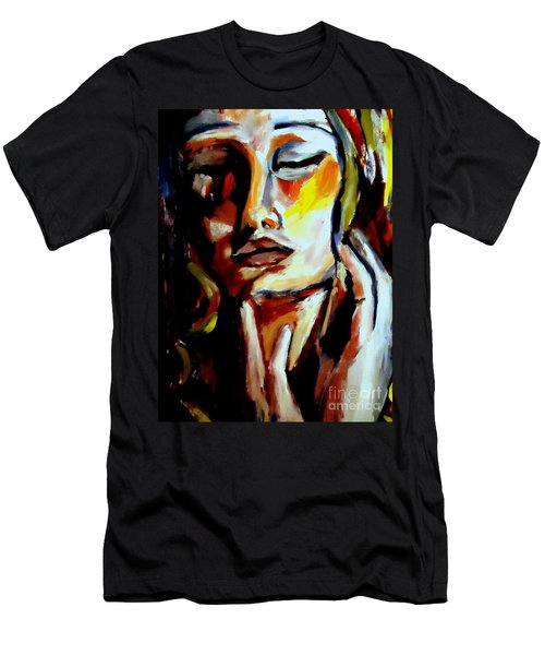 Men's T-Shirt (Slim Fit) featuring the painting Feel by Helena Wierzbicki