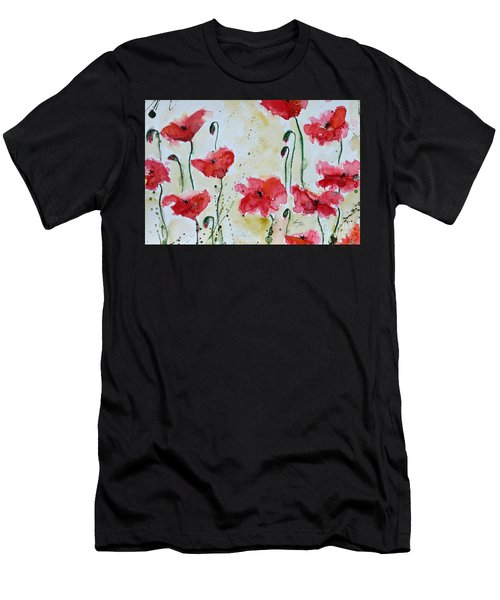 Feel The Summer 1 - Poppies Men's T-Shirt (Athletic Fit)