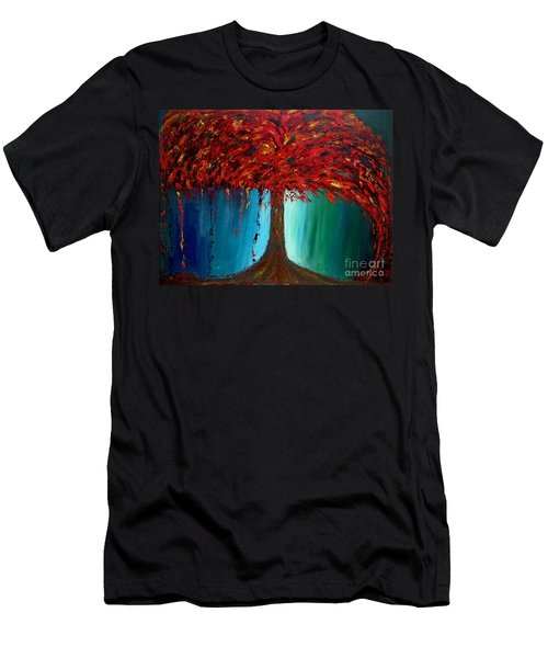 Feeling Willow Men's T-Shirt (Slim Fit) by Ania M Milo
