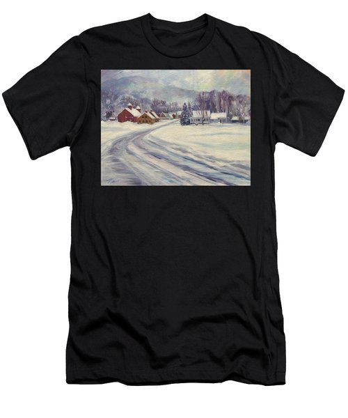 Felchville Village In The Snow Men's T-Shirt (Athletic Fit)