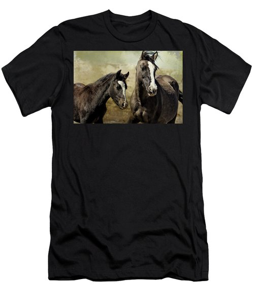 Feldspar And Ohanzee  - Pryor Mustangs Men's T-Shirt (Athletic Fit)