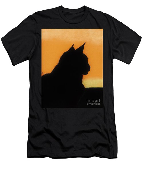Feline - Sunset Men's T-Shirt (Athletic Fit)