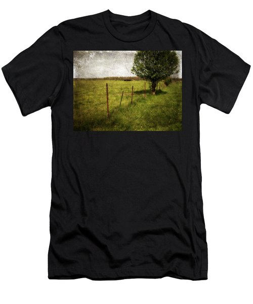 Fence With Tree Men's T-Shirt (Athletic Fit)