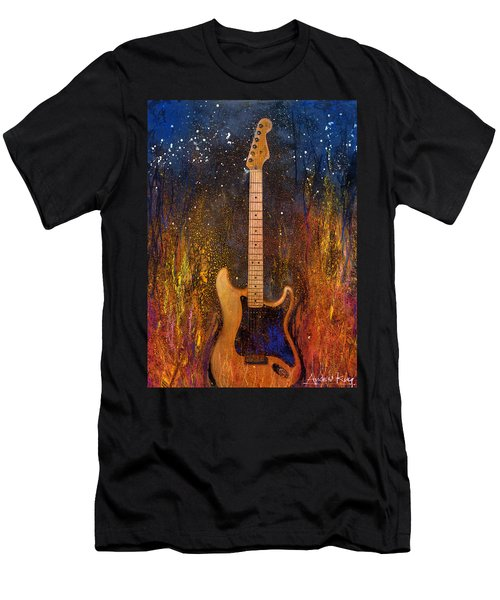 Men's T-Shirt (Athletic Fit) featuring the painting Fender On Fire by Andrew King
