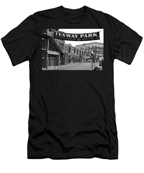 Fenway Park Banner Black And White Men's T-Shirt (Athletic Fit)