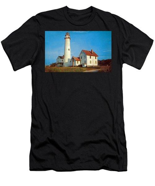 Fenwick Island Lighthouse 1950 Men's T-Shirt (Athletic Fit)