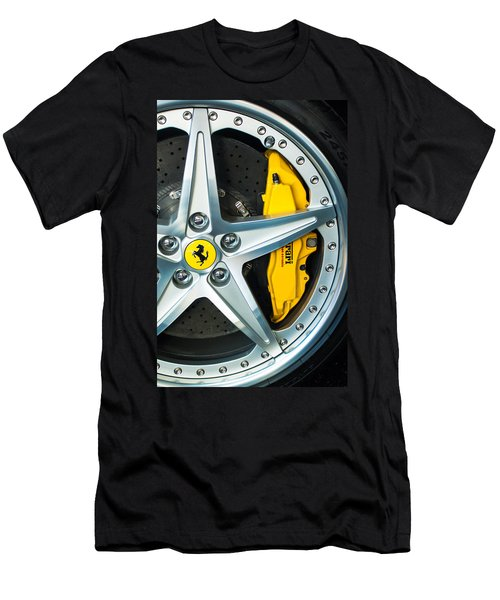 Ferrari Wheel 3 Men's T-Shirt (Slim Fit) by Jill Reger