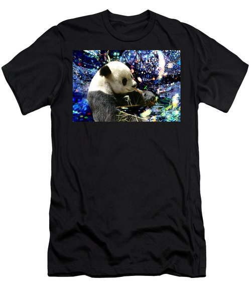 Festive Panda Men's T-Shirt (Athletic Fit)