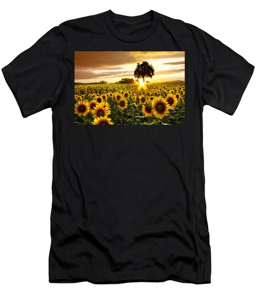 Fields Of Gold Men's T-Shirt (Slim Fit) by Debra and Dave Vanderlaan