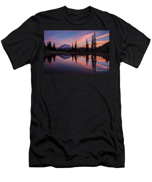 Fiery Rainier Sunset Men's T-Shirt (Athletic Fit)