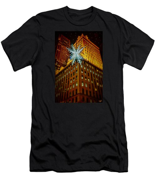 Men's T-Shirt (Slim Fit) featuring the photograph Fifth Avenue Holiday Star by Chris Lord