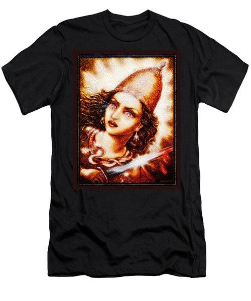 Fighting Goddess 2 Men's T-Shirt (Slim Fit) by Ananda Vdovic