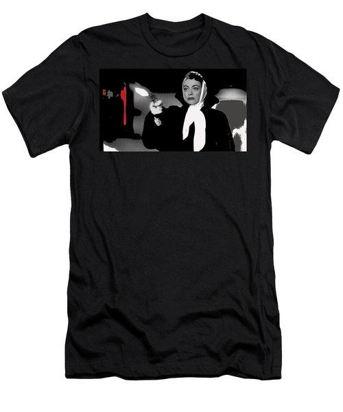 Film Noir Joan Crawford Jack Palance Sudden Fear 1952 Rko Publicity Photo Color Added 2012 Men's T-Shirt (Athletic Fit)