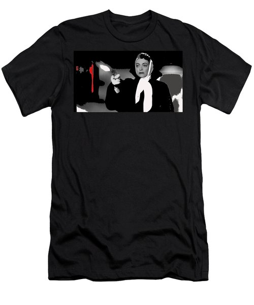 Film Noir Joan Crawford Jack Palance Sudden Fear 1952 Rko Publicity Photo Color Added 2012 Men's T-Shirt (Athletic Fit)