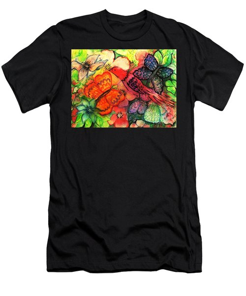 Men's T-Shirt (Slim Fit) featuring the painting Finding Sanctuary by Hazel Holland
